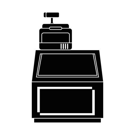 supermarket cash machine with showcase vector illustration design