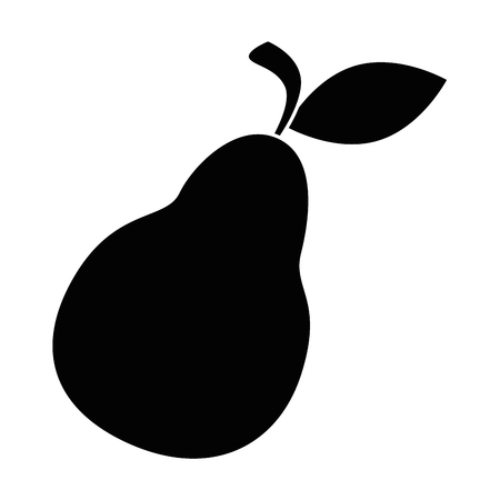 pear fresh fruit icon vector illustration design Ilustrace