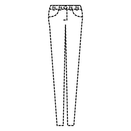 female pants clothes icon vector illustration design