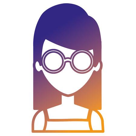 beautiful woman avatar character vector illustration design