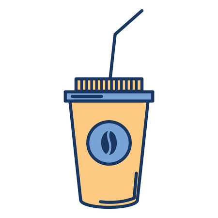 coffee plastic cup icon vector illustration design