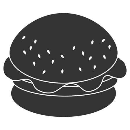 おいしいバーガー分離アイコンベクトルイラストデザイン