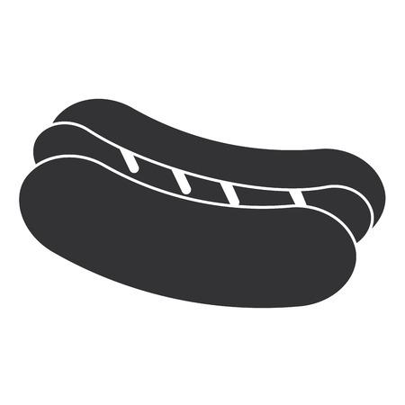 Heerlijk vector de illustratieontwerp van het hotdogpictogram Stockfoto - 87842626