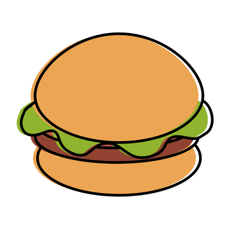 sesame: delicious burger isolated icon vector illustration design Illustration
