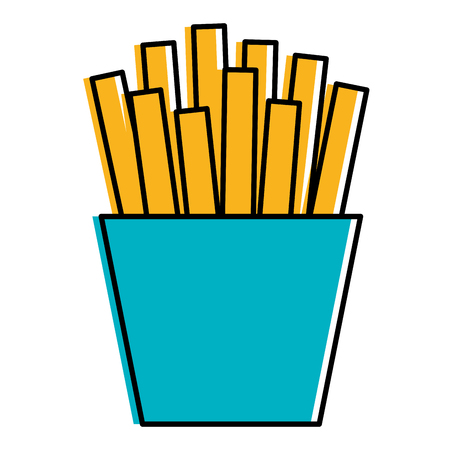 french fries potatoes icon vector illustration design 向量圖像