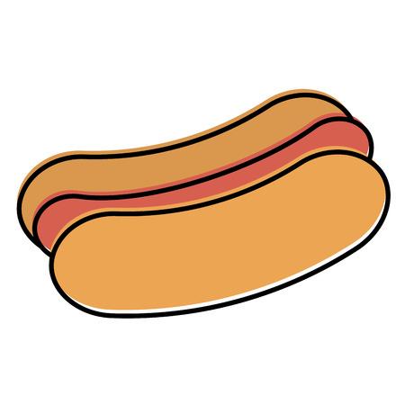 delicious hot dog icon vector illustration design Ilustração
