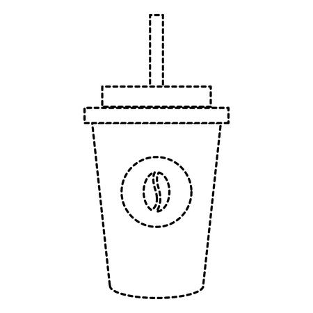 Koffie plastic kop pictogram vector illustratie ontwerp Stockfoto - 87842887
