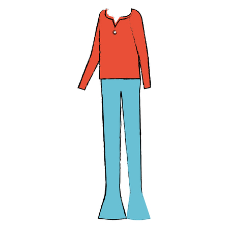 casual clothing from the sixties vector illustration design Banco de Imagens - 87860431