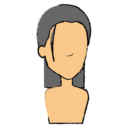 beautiful woman shirtless avatar character vector illustration design Illusztráció