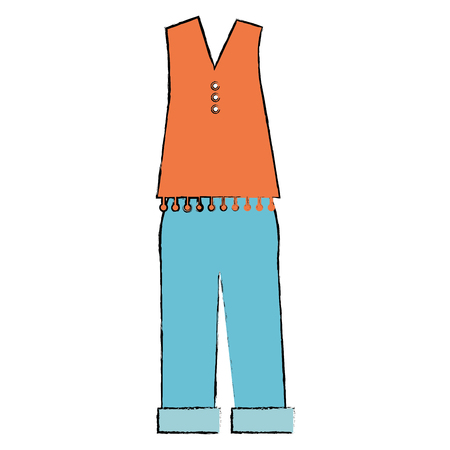 casual clothing from the sixties vector illustration design