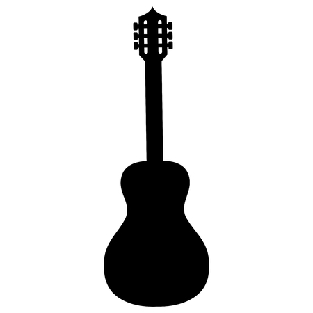 Ikonenvektor-Illustrationsdesign des Gitarreninstruments lokalisiertes Standard-Bild - 87860567