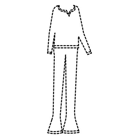 60 년대에서 일러스트 레이션 디자인 캐주얼 의류