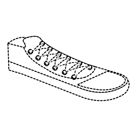 young shoes isolated icon vector illustration design Illustration