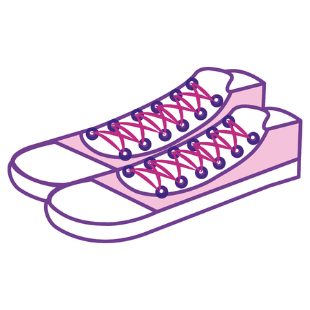 young shoes isolated icon vector illustration design Ilustrace