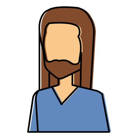 Hippie man avatar vettore illustrazione vettoriale disegno Archivio Fotografico - 87860850