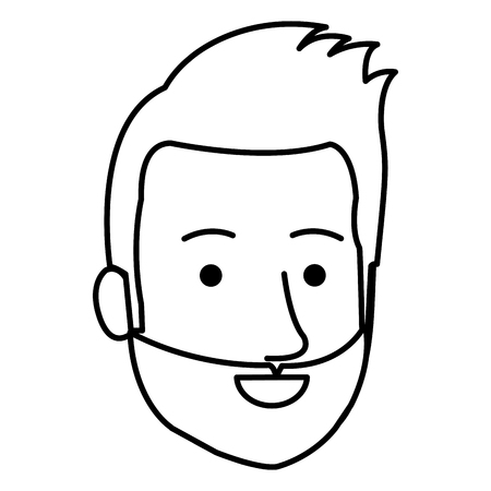 젊은이 머리 아바타 캐릭터 벡터 일러스트 디자인 스톡 콘텐츠 - 87861136