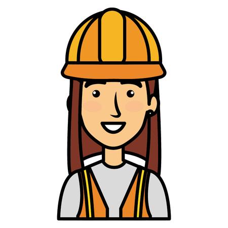 constructor woman avatar character vector illustration design Ilustração