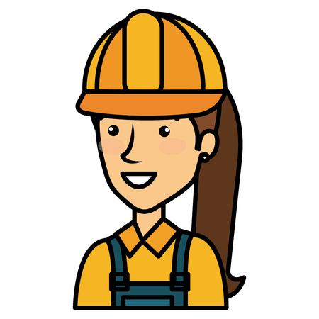 constructor vrouw avatar karakter vector illustratie ontwerp Stock Illustratie