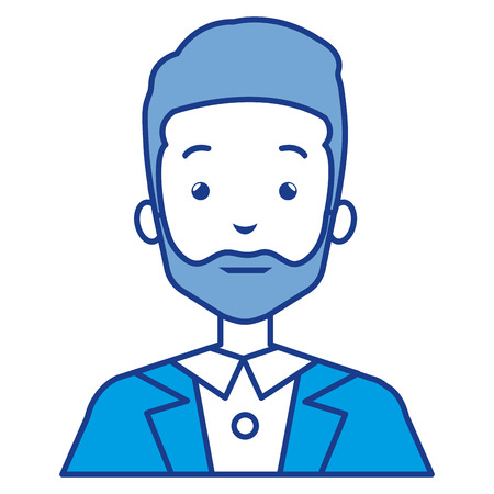 Illustration of a businessman character  icon design.