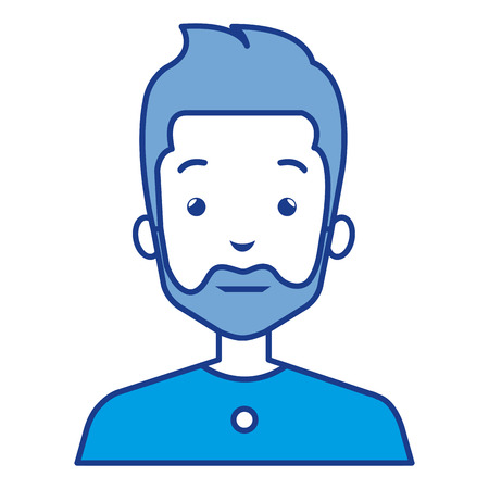 Illustration of a man character icon design. Иллюстрация