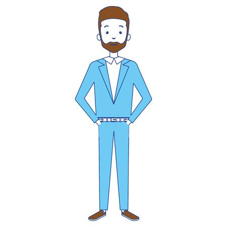 사업가 아바타 캐릭터 디자인의 그림입니다. 일러스트