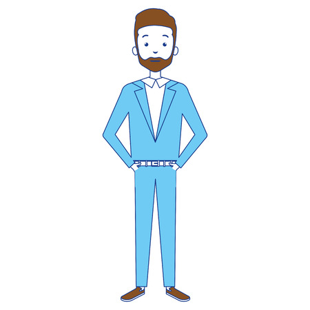 Illustration of a businessman avatar character design.