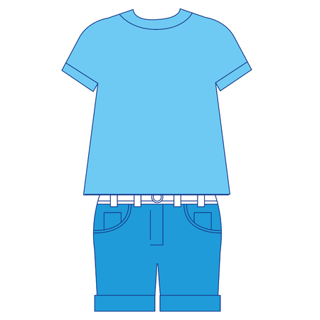 Illustration of male casual clothes icon design.
