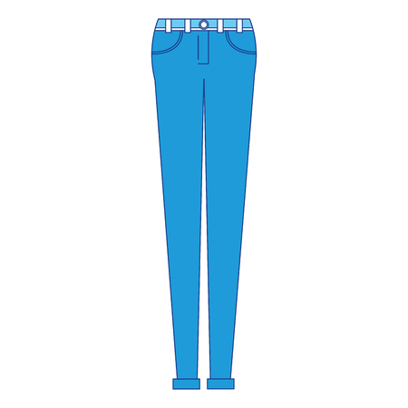 Illustration of female pants clothes icon