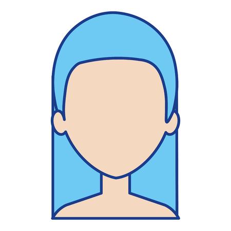 Illustration of beautiful shirtless woman avatar character design. Illustration
