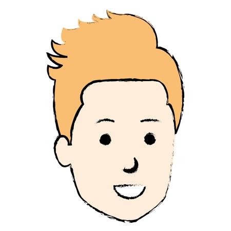 젊은이 머리 아바타 캐릭터 벡터 일러스트 디자인 스톡 콘텐츠 - 88077660