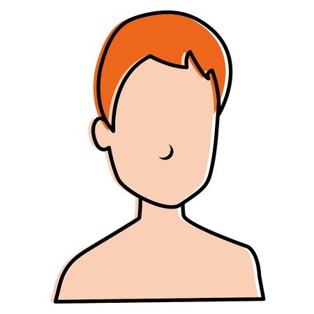 young man shirtless avatar character vector illustration design Stock Vector - 87997837