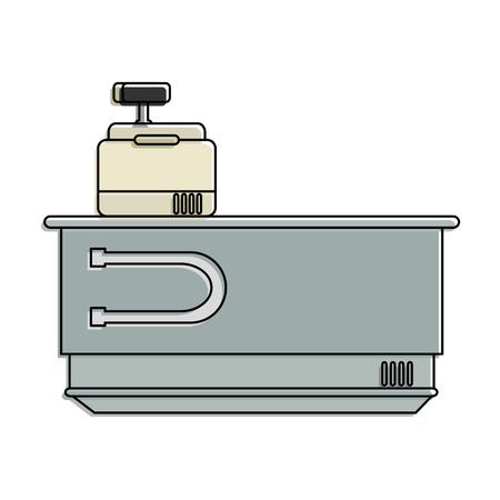 Ontwerp van de het apparatenillustratie van het supermarktautomaat het tegen.