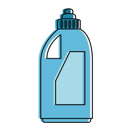 Disegno illustrazione icona bottiglia detergente.