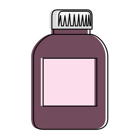 プラスチック ボトル製品アイコン イラスト デザイン。