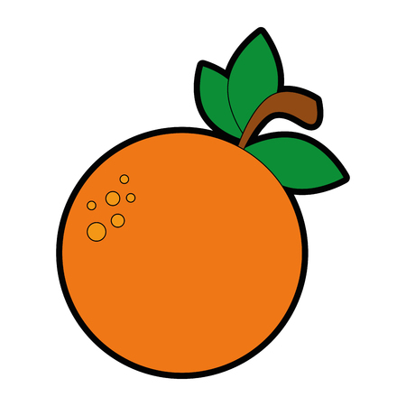 orange fresh fruit icon vector illustration design Çizim