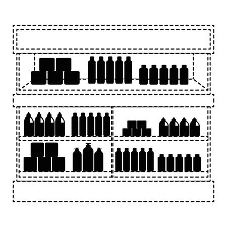 Supermarkt koelkast met producten vector illustratie ontwerp Stockfoto - 87998070