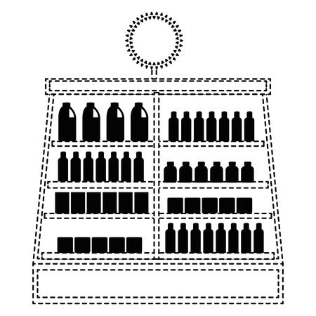 supermarket fridge with products vector illustration design Фото со стока - 87998072