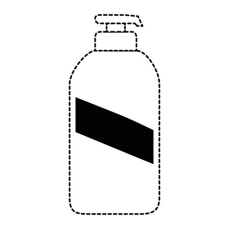 비누 병 격리 된 아이콘 벡터 일러스트 디자인