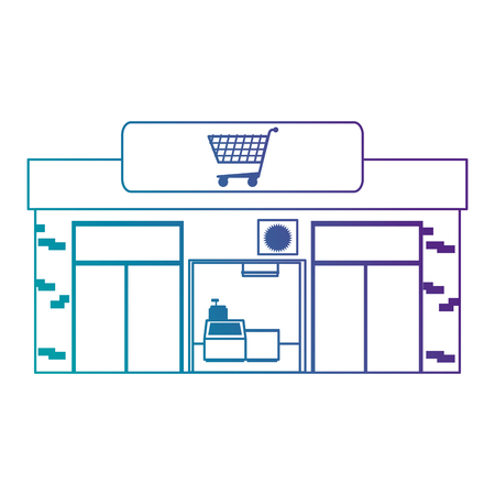 supermarket building front icon vector illustration design Ilustracja