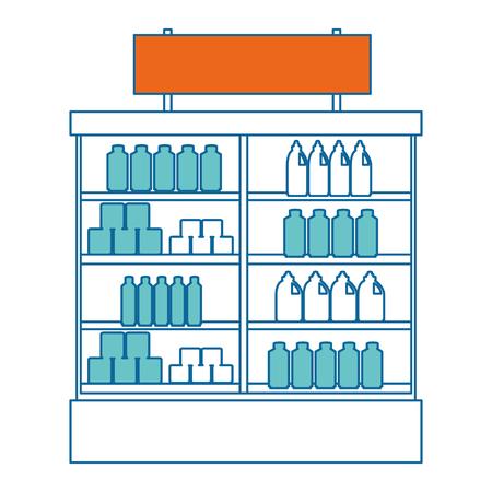 Supermarkt koelkast met producten vector illustratie ontwerp Stockfoto - 87998257