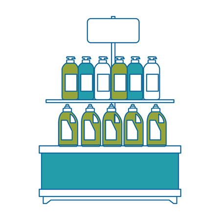 supermarket shelf with products vector illustration design 版權商用圖片 - 87998260