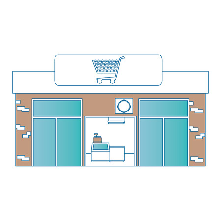 supermarket building front icon vector illustration design Stock Vector - 87998263