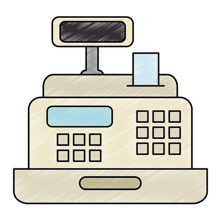 supermarket cash machine icon vector illustration design