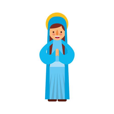 Bonjour sainte vierge marie célébration de noël icône illustration vectorielle Banque d'images - 88078599