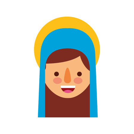 blessed holy virgin mary christmas celebration icon vector illustration Stock Vector - 88078606