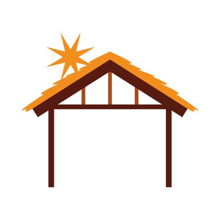 Cabane en bois maison manger conception image vectorielle illustration Banque d'images - 88078914