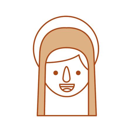 Bonjour sainte vierge marie célébration de noël icône illustration vectorielle Banque d'images - 88078932