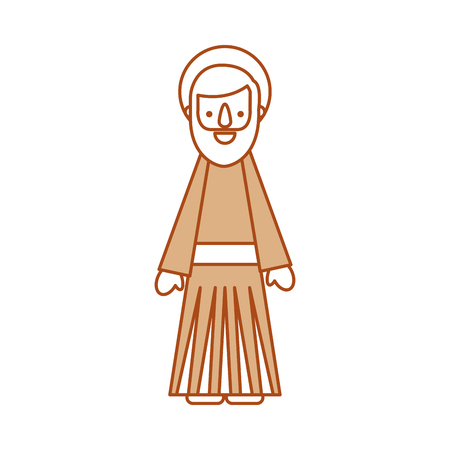 saint joseph father spiritual cartoon christmas vector illustration