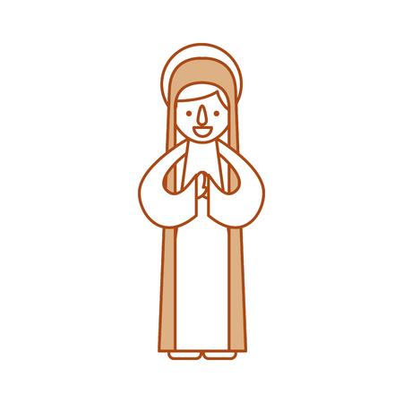 Béni Sainte vierge Marie Noël célébration icône vector illustration Banque d'images - 88079375