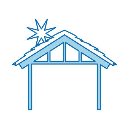 Bois hut house design de la salle d & # 39 ; image illustration vectorielle Banque d'images - 88224974
